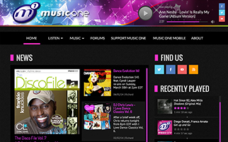 http://www.musicone.fm design proposal currently being implemented.